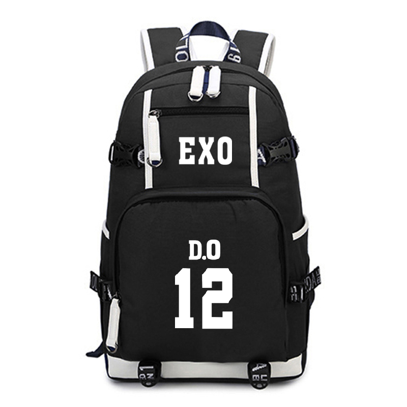 Kpop EXO Backpack Teenagers Student Schoolbags Fashion School Backpacks Children Kid Travel Backpack Laptop Backpack