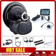 TOSHENG kit de motorisation de vélo électrique 48V, 500W, 36V, 350W, 250W, moteur à entraînement central dans le pédalier