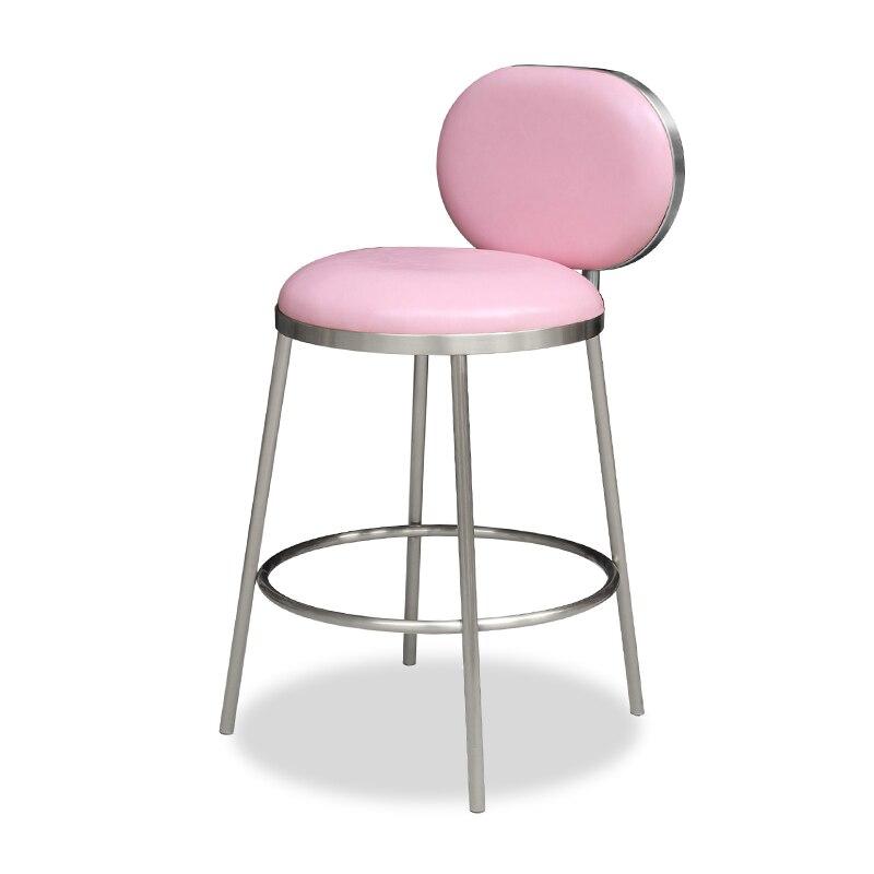 Bar High Stool Bar Stool Stainless Steel High Chair KTV Modern Bar Chair Home High Chair