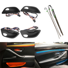 Car Inside Interior Decorative Door Led Ambient Lights Stripes For BMW 5 Series F10/F11 2010-2017 Atmosphere Light With 2 Colors