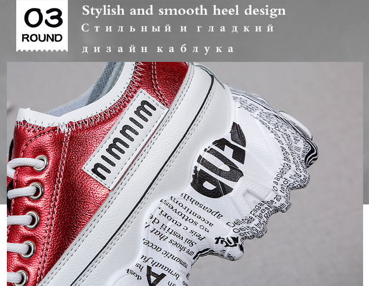 TUINANLE 2020 Chunky Sneakers Women Bling PU Women Shoes White Sneakers Spring Women Wedge Shoes High Platform Zapatillas Mujer