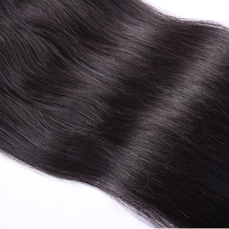 BUGUQI Hair Clip In Human Hair Extensions Brazilian Natural Color Remy 16 26 Inch 100g Machine Made Clip Human Hair Extensions in Clip in Hair Extensions from Hair Extensions Wigs