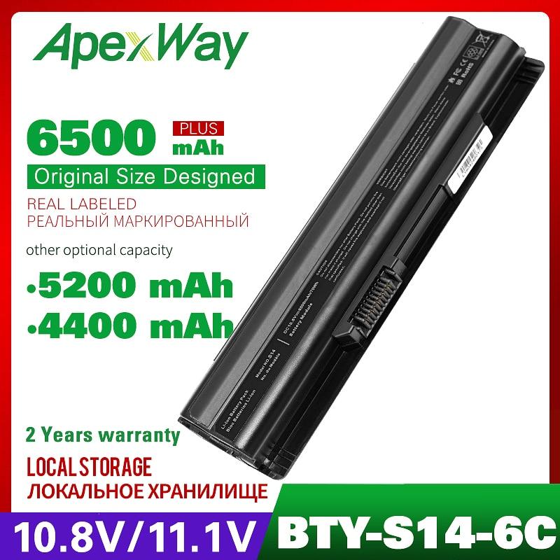 Laptop Battery BTY-S14 BTY-S15 For MSI GE60 GE70 GE620 GE620DX FR400 FR600 FR610 FR620 FR700 Akoya Mini E1312 E1315 MD97125