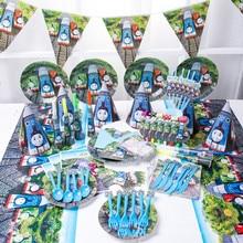 Decoraciones para fiesta de cumpleaños de Thomas y sus amigos, bolsa de regalo para Baby Shower, platos y vasos de papel, vajilla desechable