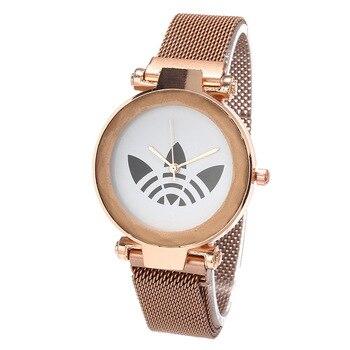 цена Zegarki damskie Luxury Women Watches 2019 New Rose Gold Steel Dress Wristwatch Fashion Bracelet Quartz Ladies Watch Reloj Mujer онлайн в 2017 году