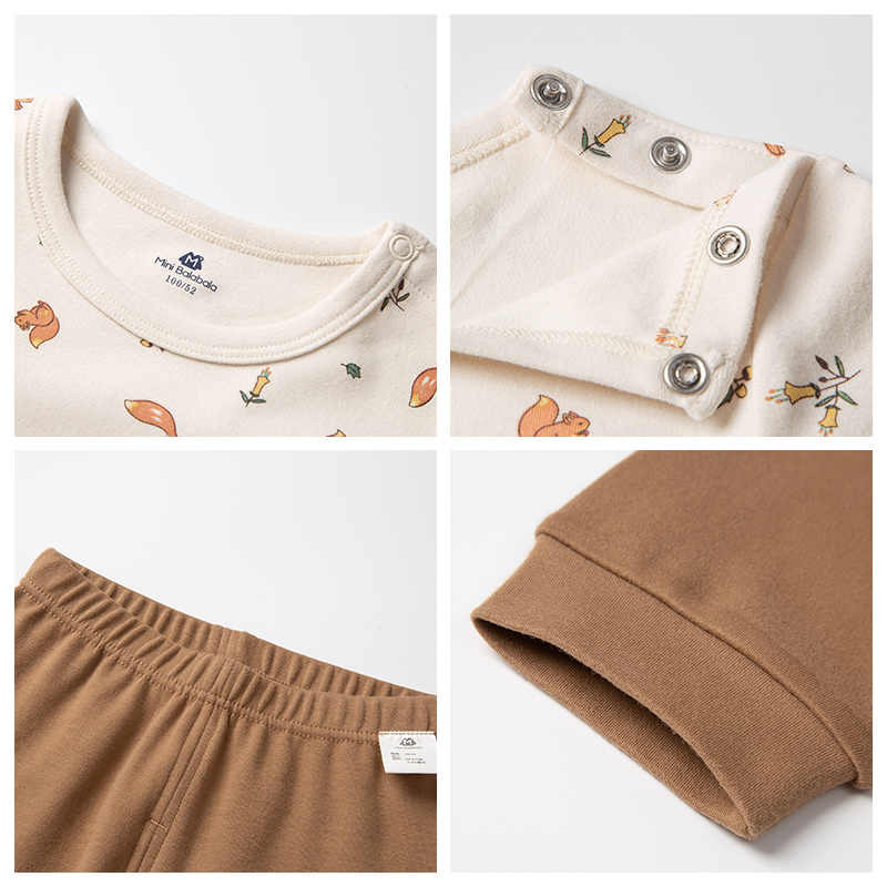 Minibalabala Bambini biancheria intima delle ragazze insieme dei vestiti 2019 inverno nuovo caldo del knit del cotone del vestito del manicotto lungo
