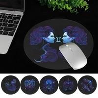 Universal Laptop Maus Matte Leder Wasserdicht Nicht-Rutsch Niedlichen Cartoon Runde Maus Pad 22x22CM für MacBook xiaomi Lenovo