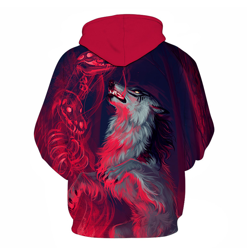 Wolf Printed Women 3d Hoodies Brand Sweatshirts Girl Boy Jackets Pullover Fashion Tracksuits Animal Streetwear Lovers Sweatshirt 72