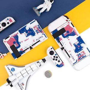 Image 4 - Carcasa protectora rígida para Nintendo Switch, carcasa protectora trasera, color rosa, blanco mate, para NS Joy con