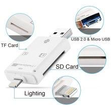 Мультикард ридер lightning для карт памяти sd tf Поддержка ios13