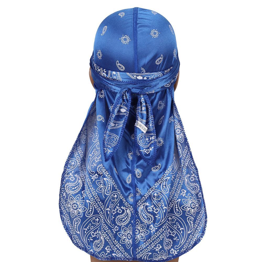 8 видов цветов модная одежда унисекс для мужчин и женщин для шелковистые Durag тюрбан банданы резинки для волос шляпа с запахом хип-хоп кепки, г...