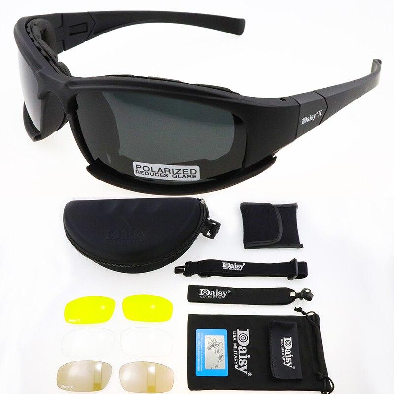 DAISY X7 Polarisierte Photochrome Taktische Brille Radfahren Brille Airsoft Sicherheit Taktische Sonnenbrillen Outdoor Sport Brillen