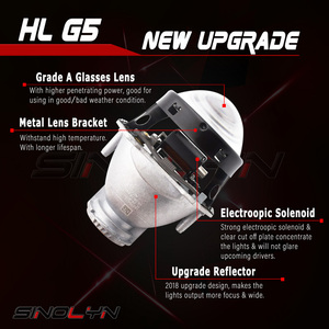 Image 2 - Sinolyn Projector Lens For Ford Mondeo Mk4 Hella 3R G5 Lens With Frame Bi Xenon Headlight Lens Use D2S D1S D3S D4S LED HID Bulb