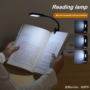 Book Light USB Led Rechargeable Mini Clip-On Desk Lamp Light Flexible Nightlight Reading Lamp for Bedroom Book 1