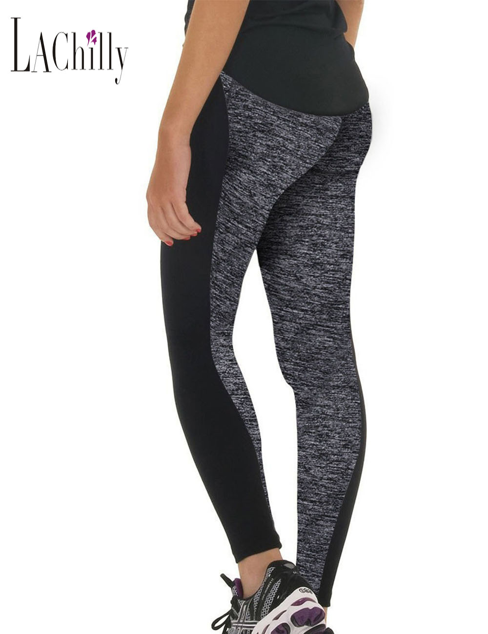 Sportswear Long-Pants Tights Running Woman The Hip-Joint Elastic-Waist Gym AB Double