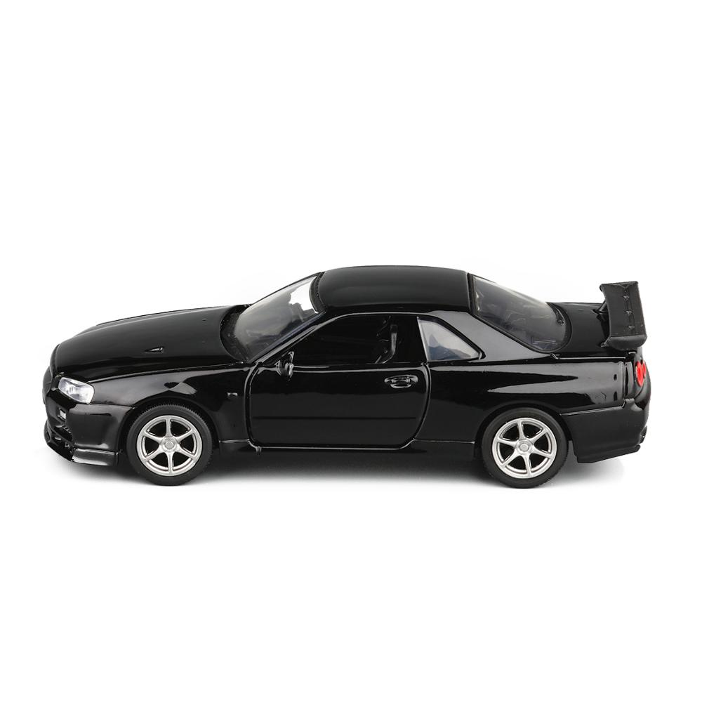 ALI shop ...  ... 4000344037233 ... 5 ... High quality 1:36 Nissan GT-R R34 sports car alloy model,simulated metal pull back model toys,children's gifts,free shipping ...