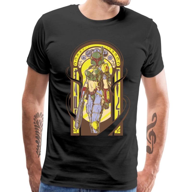 Star Wars Tops & Tees Funny Men Tshirt Women T-shirts Lady Boba Fett Summer/Autumn Oversized Vintage Design Cotton Streetwear