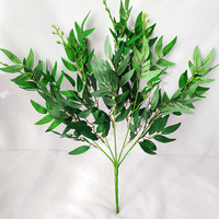 5 Pcs Willow Branches Artificial Plant Flower Green Leaves for Home Garden Wedding Decoration Wreath