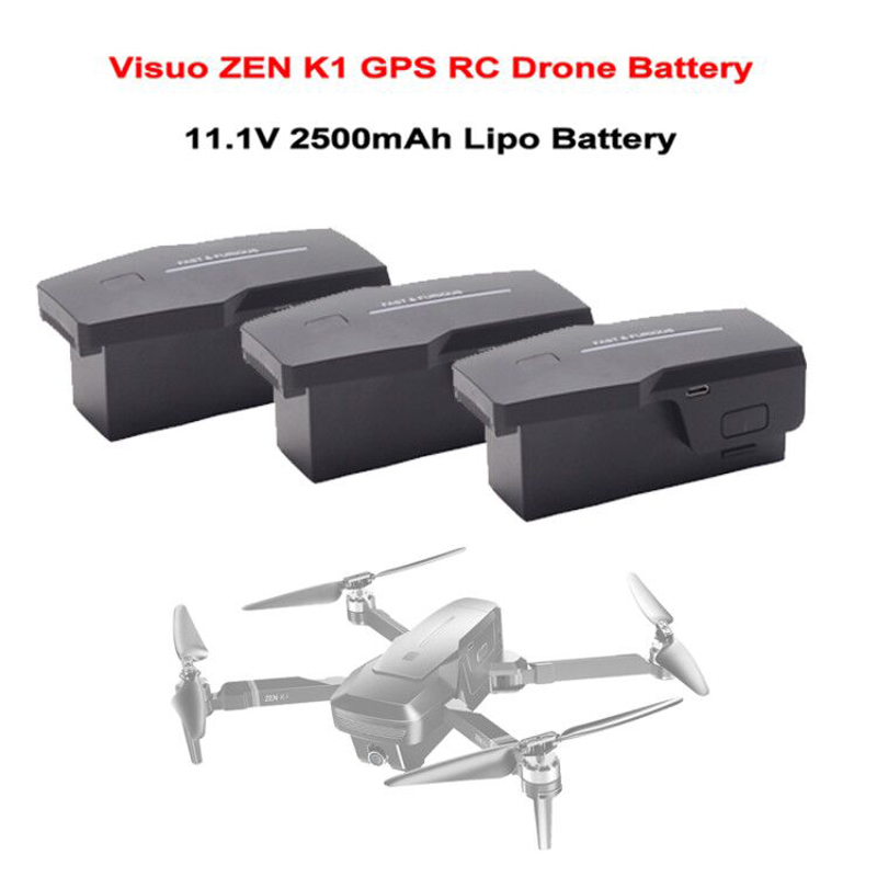 11.1V 2500mAh Lipo Battery For Visuo ZEN K1 4K Wide-Angle HD Dual Camera 5G Wifi FPV GPS RC Drone Quadcopter Battery Spare Parts