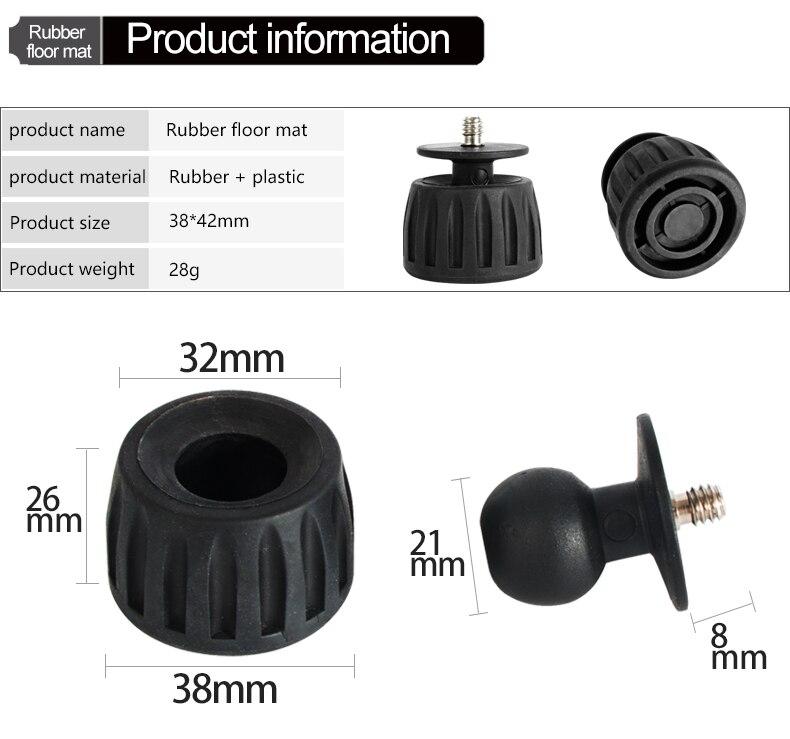 4pcs UNC3//8 Screw Non-Slip Rubber Tripod Foot Heavy Suppression Pads for Camera Tripod Monopod