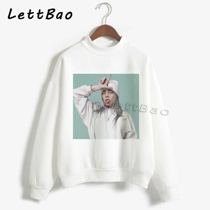 Billie Eilish Hoodies Sweatershirt Streetwear Aesthetic Gothic Moletom Feminino Ullzang Harajuku Custom Women Hoodie Femme 90s