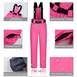 Image 3 - Kombinezon narciarski zestaw damski wiatroszczelna wodoodporna ciepła kurtka narciarska spodnie narciarskie odzież zimowa narciarstwo i kombinezony snowboardowe marki