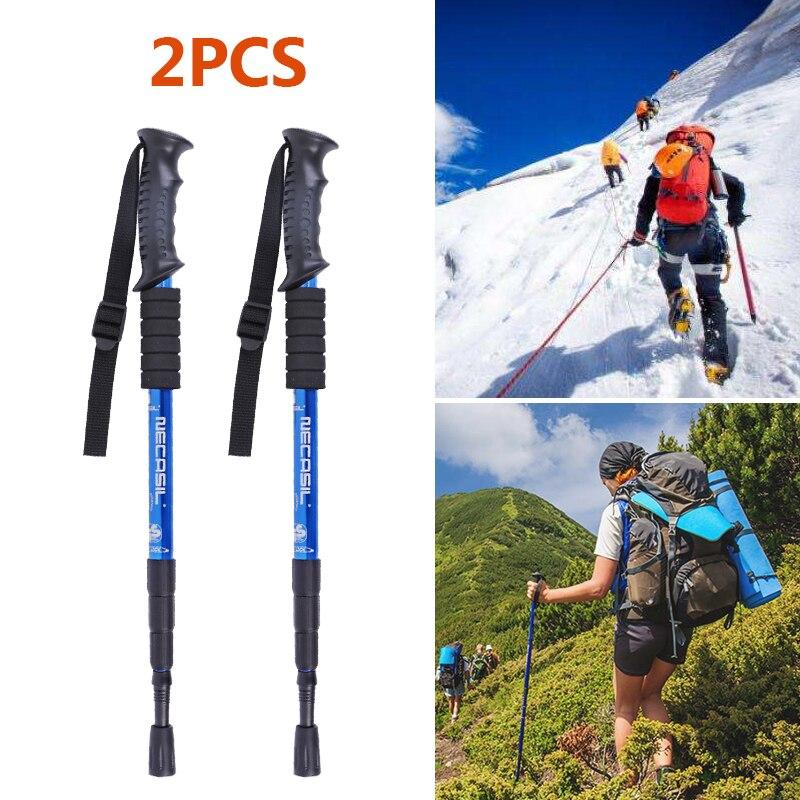 Nordic Walking Sticks Telescopic Trekking Climbing Anti Shock Hiking Walking Trekking Trail Poles Stick Adjustable Canes Elderly