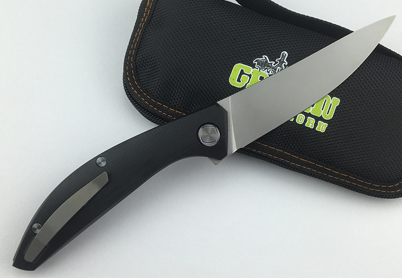 GRÜN DORN SIGMA Flipper klappmesser D2 klinge Titan + G10 stahl griff outdoor camping küche obst messer EDC werkzeug - 3