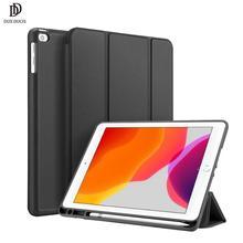 DUX DUCIS умный чехол для iPad 7 PU кожаный флип мягкий чехол для iPad 7th Gen 10,2 дюймов Чехол iPad 10,2 карандаш держатель Funda