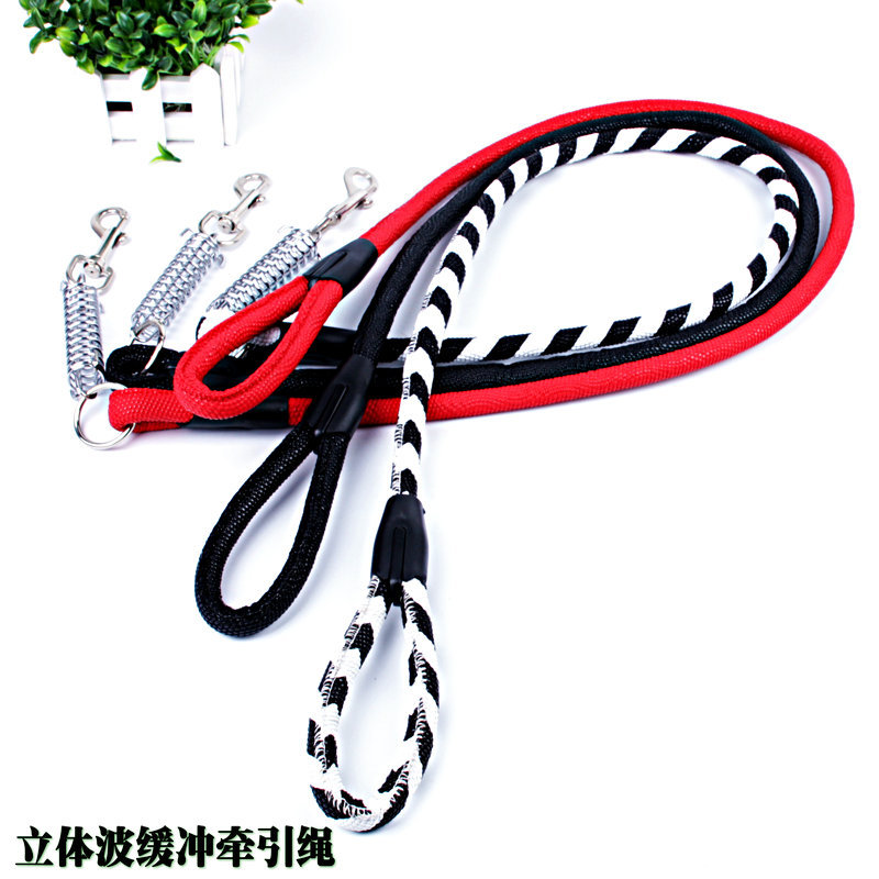 Special Offer Pu Spring Buffer Pet Traction Rope Large And Medium-sized Dog Traction Belt High Grade Hand Holding Rope