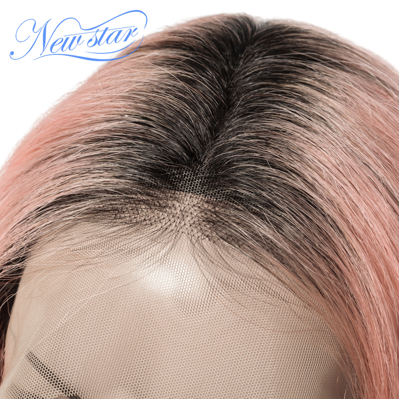 Black Root Short Bob Lace Wig Brazilian Straight Human Hair New Star Glueless Lace Front Wig 1B/ Pink/99j/Grey/Orange Ombre Wig-in Lace Front Wigs from Hair Extensions & Wigs    2