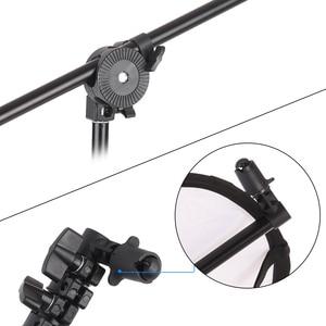 Image 5 - Wysuwany Photo Studio reflektor do zdjęć uchwyt dyfuzora stojak podparcie ramion wysięgnika z elastycznym uchwytem obrotowym