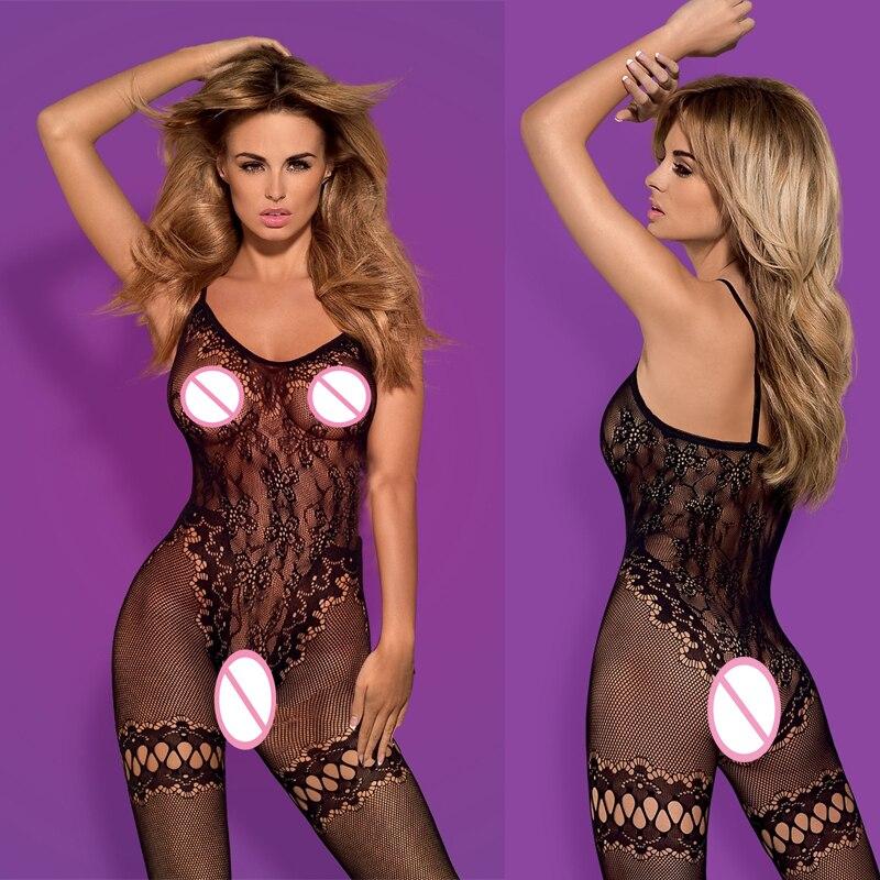 Lingerie Feminina Sexy Lingerie Porno Erotic Langerie Sexy Costumes Lenceria Mujer Transparent Plus Size Women Catsuit  Qq401