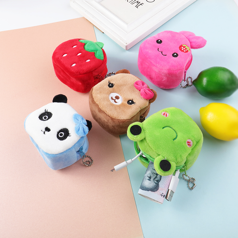 Ant Bt21.Keychain Plush Kawaii Cute Mini Coin Purse Cross Cartoon Stitch Chimmy Kids Toys Vipkid My Melody Cute Panda