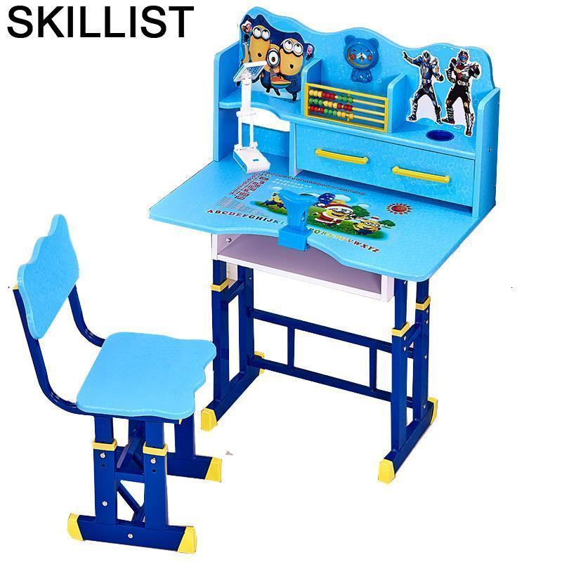 De Estudo Avec Chaise Pupitre Cocuk Masasi Desk Escritorio Infantil Child Adjustable Bureau Enfant For Kinder Study Kids Table