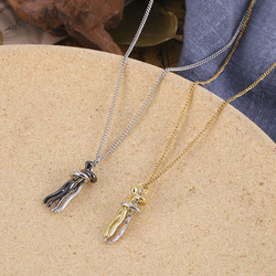 Fashion Punk Hip-hop Trend Hug Necklace Humanoid Couple Necklace Copper New Street Style Hot Sale Anniversary Gift