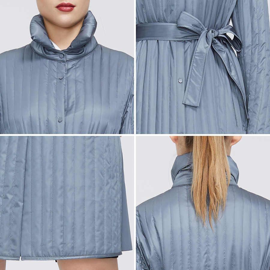 MIEGOFCE 2020 Neue Frühjahr Sammlung Warme Baumwolle Frauen Mantel High-Medium-Qualität Lange anhaltende Kragen Mit Gürtel Frauen warme Jacke