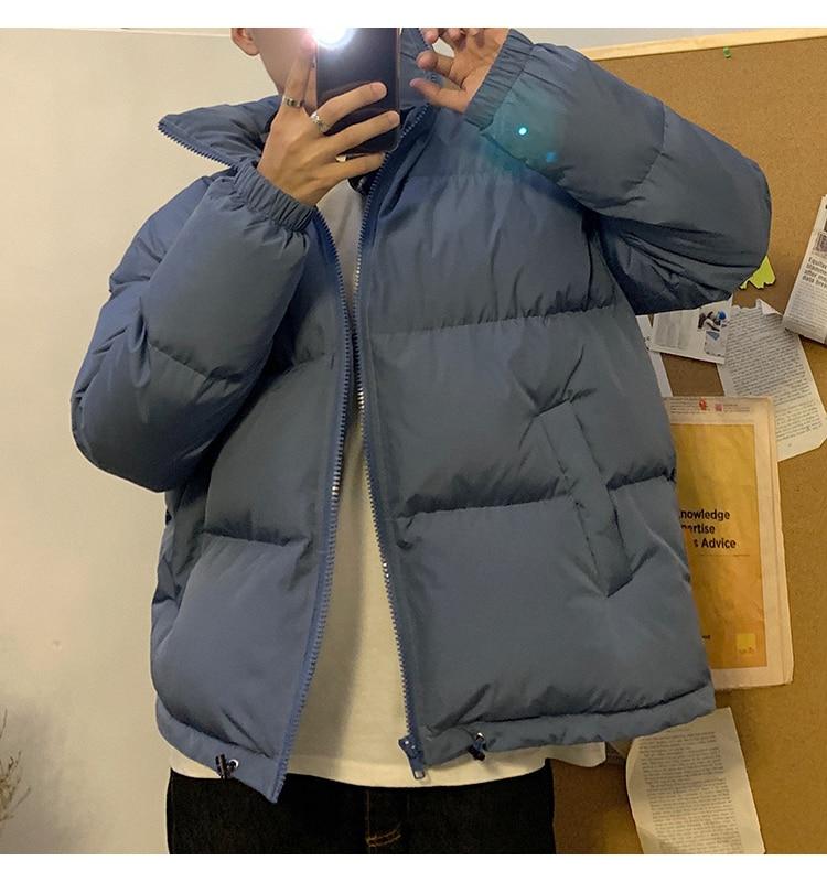 LAPPSTER Men Harajuku Colorful Bubble Coat Winter Jacket 2020 Mens Streetwear Hip Hop Parka Korean Black Clothes Puffer Jackets