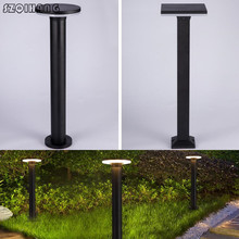 Black 40cm 60cm 80cm Landscape Post Light Waterproof IP65 Stainless Outdoor Garden Lawn Pillar Lamp Bollard