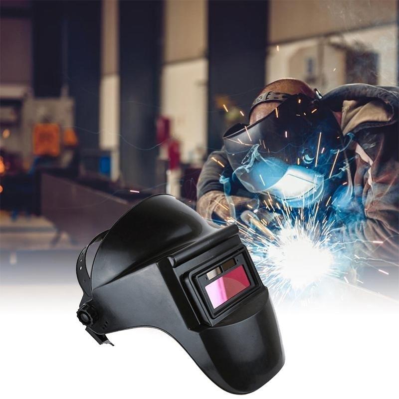 Protective Welder Mask Solar Auto Darkening Grinding Black Headband Welding Helmet Protective Mask Sparkproof Anti-UV Anti-glar