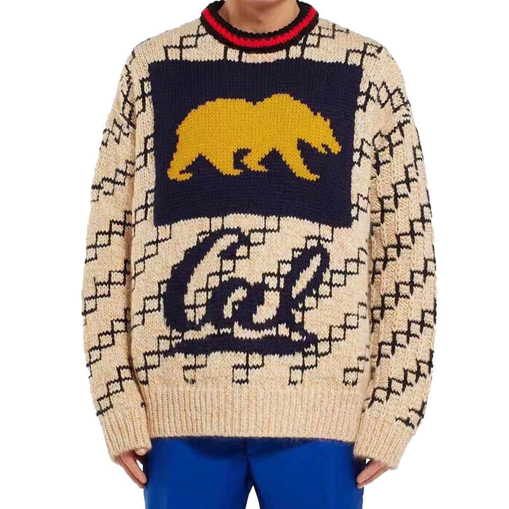 DUYOU 2019 New Autumn Winter Sweater Men Pullover Animal Pattern Knitted  Sweater Male Casual Fashion High Quality Sweater