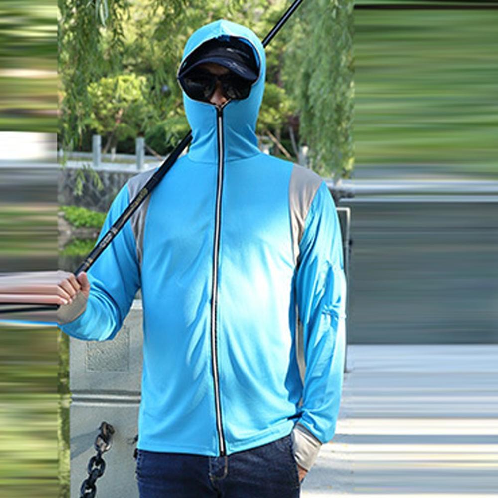 Mens Sport Sweatshirts Long Sleeves Tops Hoodie Sweatshirts Fishing Suit Zipper Blouse Outdoor Leisure Fit Tops Coat