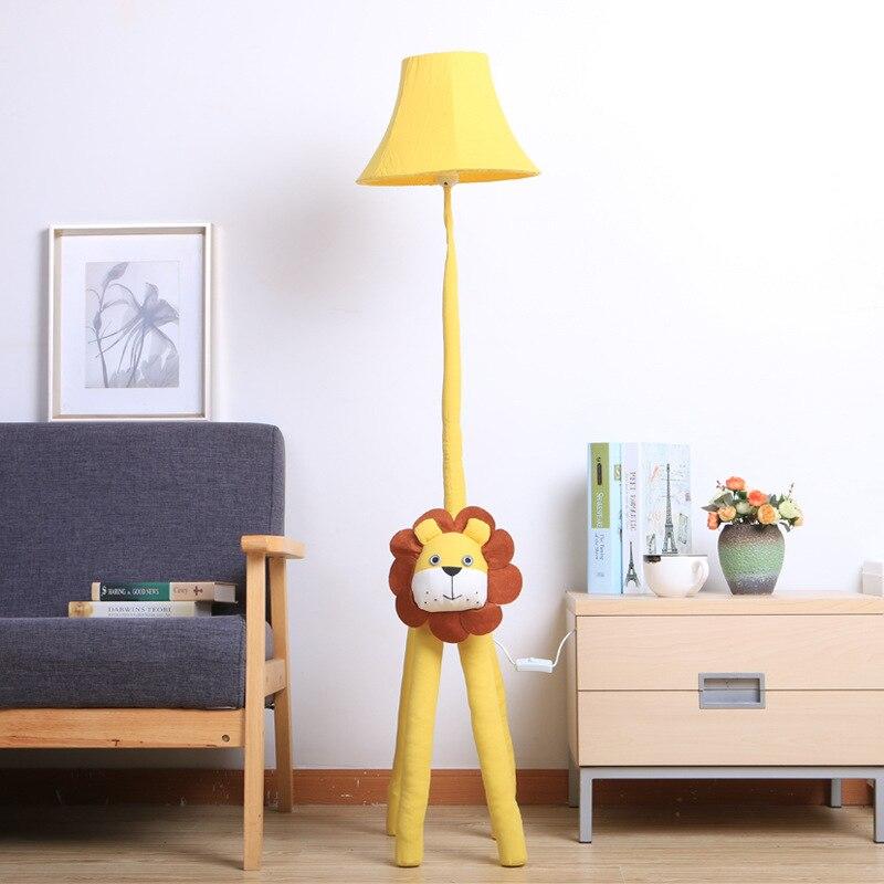 Livraison gratuite nordique dessin animé Lion chat Modle animaux lampadaires enfants chambre décoration lumières cadeaux d'anniversaire pour enfants fête
