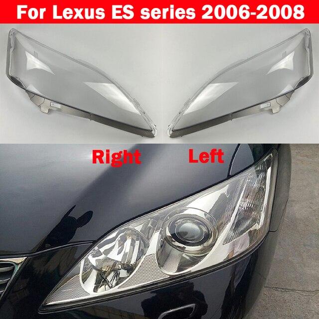 שקוף רכב פנס עדשת זכוכית פגז מנורת אהיל פנס כיסוי לקסוס ES סדרת ES350 2006 2007 2008