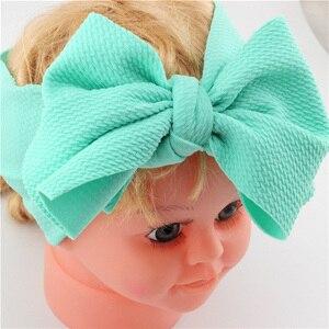 Регулируемая повязка на голову с большим бантом, Детская повязка на голову, топ, повязки с узелком, большой бант, тюрбан для волос, повязка на голову для новорожденных, большие банты для волос для девочек
