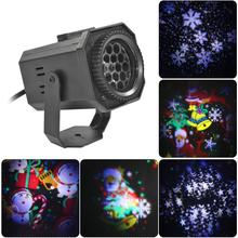 LED Christmas Light Outdoor Waterproof Snowflake Projection Lamp Projector Lighting for Lawn Stage Garden Decorations