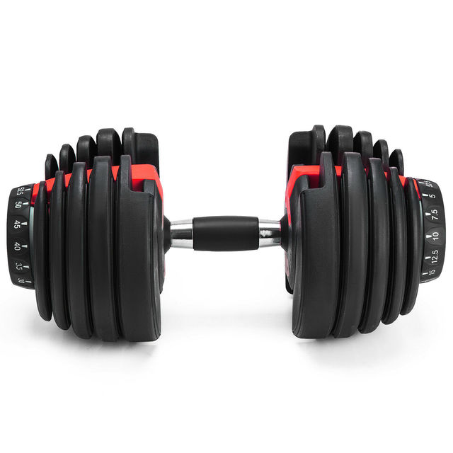1Pcs 24kg Adjustable Selectable Dumbbells Weights Home Gym 52lbs  4