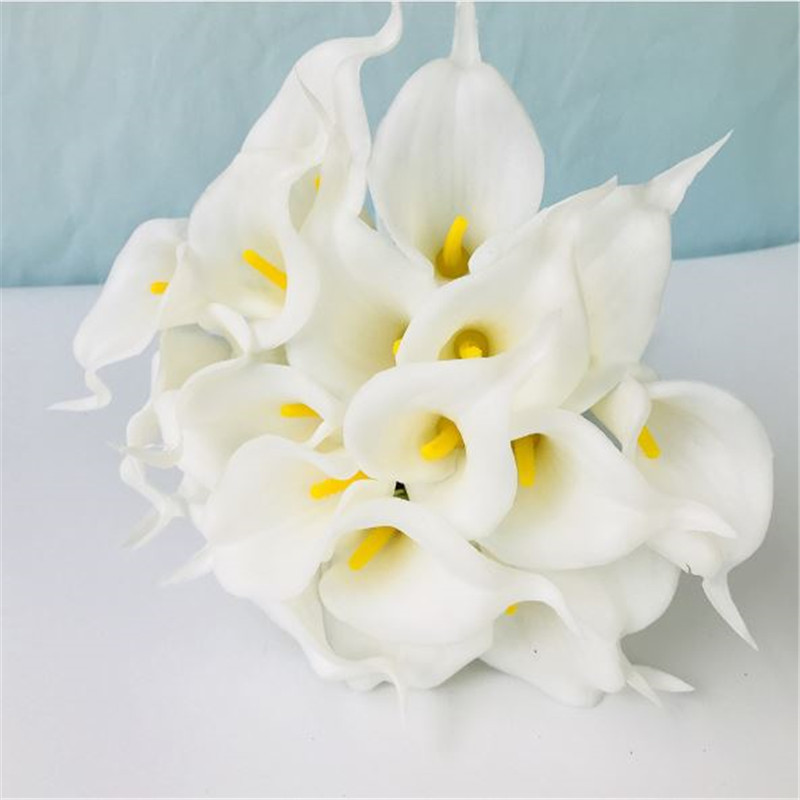 1PC PU Mini Tulips Artificial Flowers For Home And Wedding Decoration Flowers 40