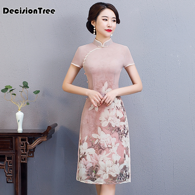 2019 Traditional Clothing Vietnam Aodai Qipao Dress For Women Vietnam Traditional Clothing Ao Dai Vietnam
