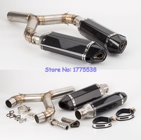 For Motorcycle Aprilia SHIVER 750 10 16 Exhaust Muffler System Stainless Steel Motorbike Muffler Escape for Aprilia Shiver 750